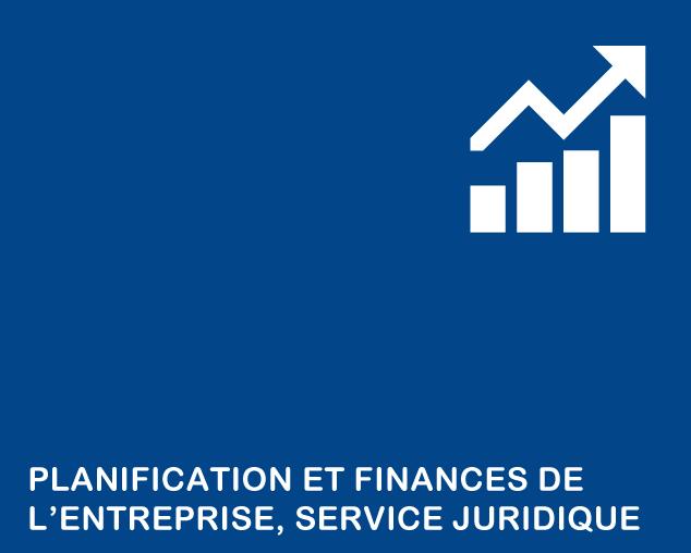 Planification, finances, service juridique