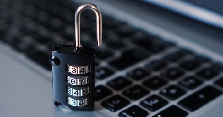 Lock on the keyboard of a laptop